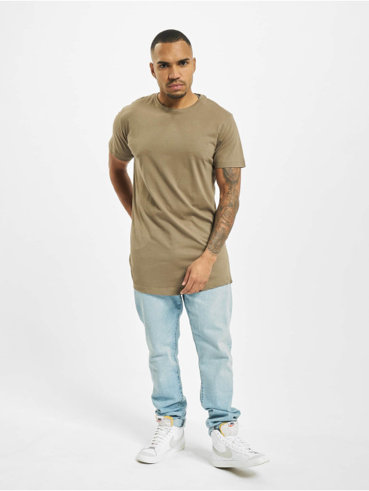 Urban Classics T-Shirty Shaped Oversized Long zielony