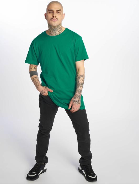 Urban Classics T-Shirty Shaped Long zielony