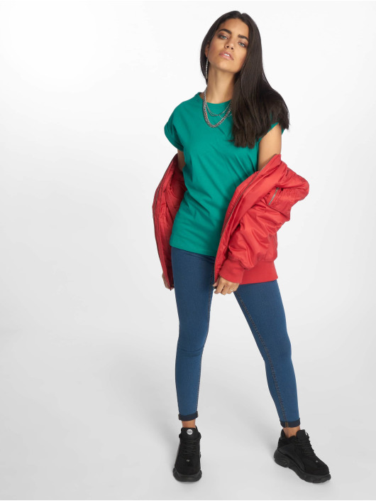 Urban Classics T-Shirty Extended Shoulder zielony