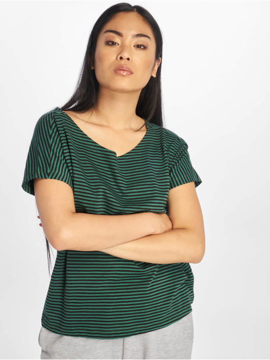 Urban Classics T-Shirty Yarn Dyed Baby Stripe zielony