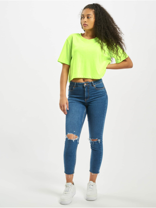 Urban Classics T-Shirty Ladies Short Oversized Neon zielony