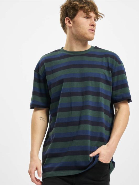 Urban Classics T-Shirty College Stripe Tee zielony