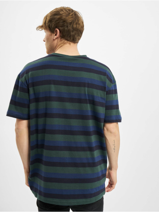 Urban Classics T-Shirty College Stripe Tee zielony