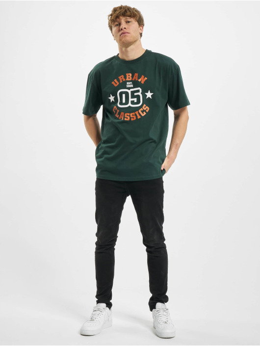 Urban Classics T-Shirty College Print Tee zielony