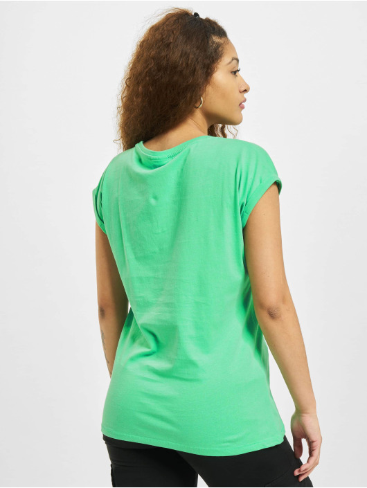 Urban Classics T-Shirty Extended Shoulder zielony
