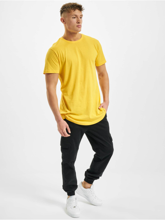 Urban Classics T-Shirty Shaped Oversized Long zólty
