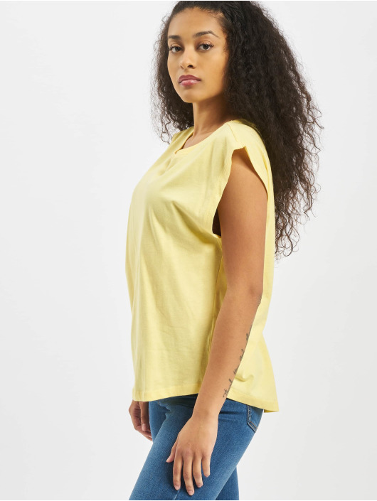 Urban Classics T-Shirty Ladies Basic Shaped zólty