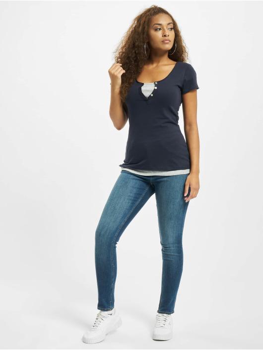 Urban Classics T-skjorter Two Colored blå