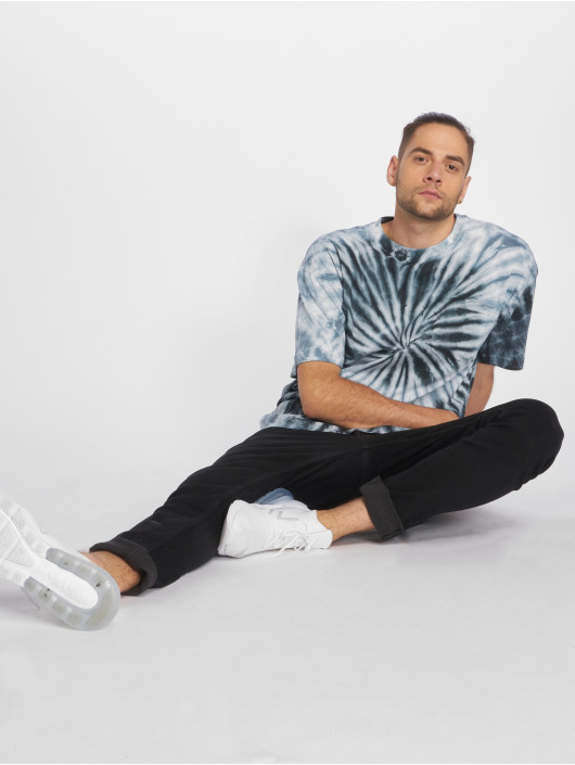 Urban Classics T-skjorter Spiral Tie Dye Pocket blå