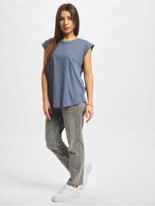 Urban Classics T-skjorter Basic Shaped blå