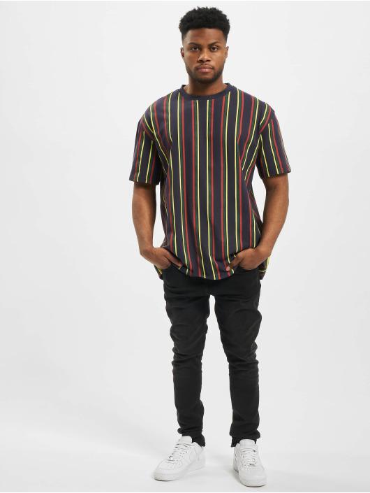 Urban Classics T-skjorter Printed Oversized Retro Stripe blå