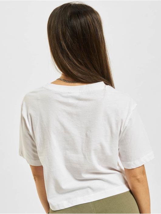 Urban Classics T-skjorter Ladies Oversized Short hvit