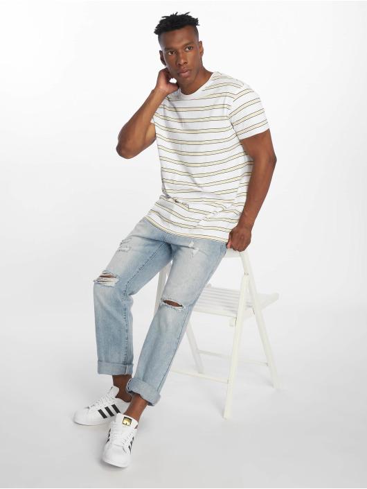 Urban Classics T-skjorter Multicolor Stripe hvit