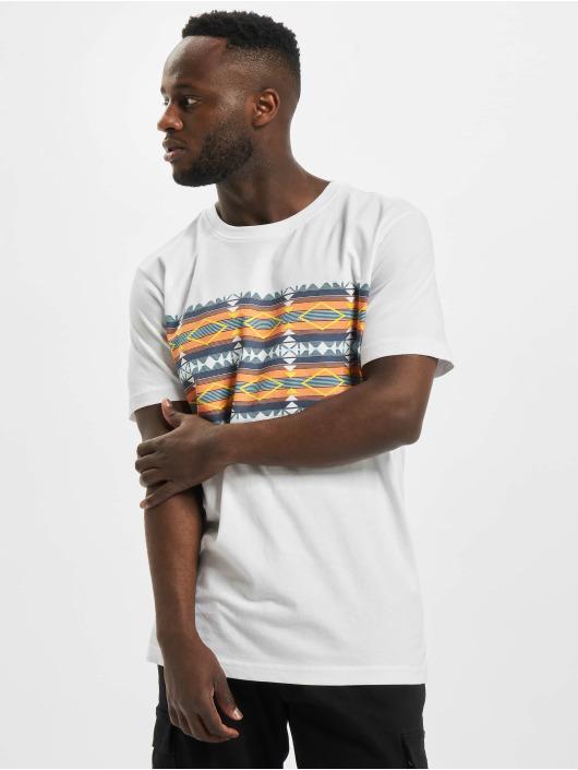 Urban Classics T-skjorter Inka Pattern hvit