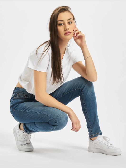 Urban Classics T-skjorter Ladies Cropped Tunnel hvit