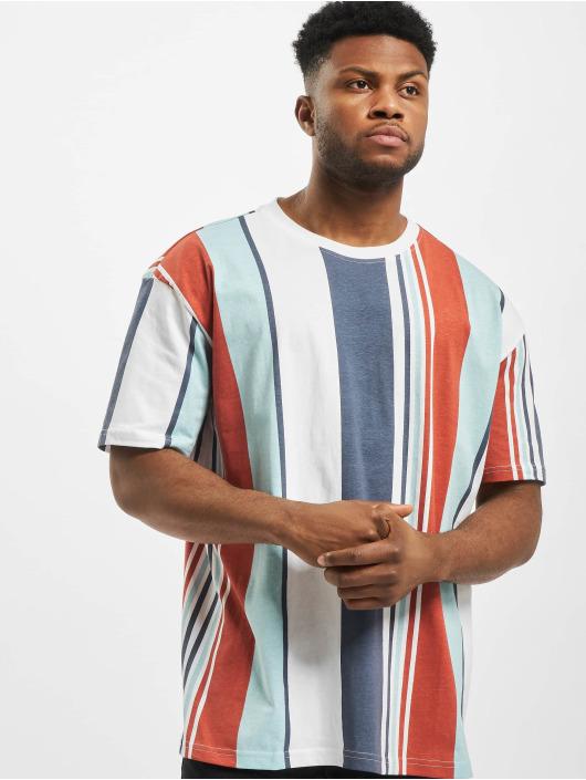 Urban Classics T-skjorter Heavy Oversized Big All Over Print Stripe red