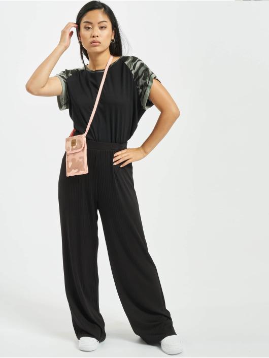 Urban Classics T-skjorter Contrast Raglan svart