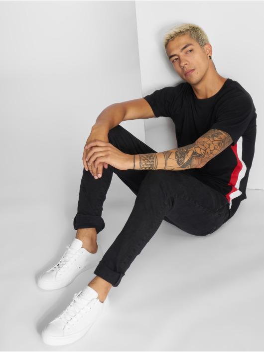 Urban Classics T-skjorter Side Stripe Raglan svart