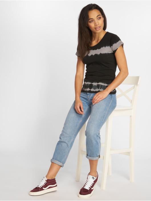 Urban Classics T-skjorter Striped Tie Dye svart
