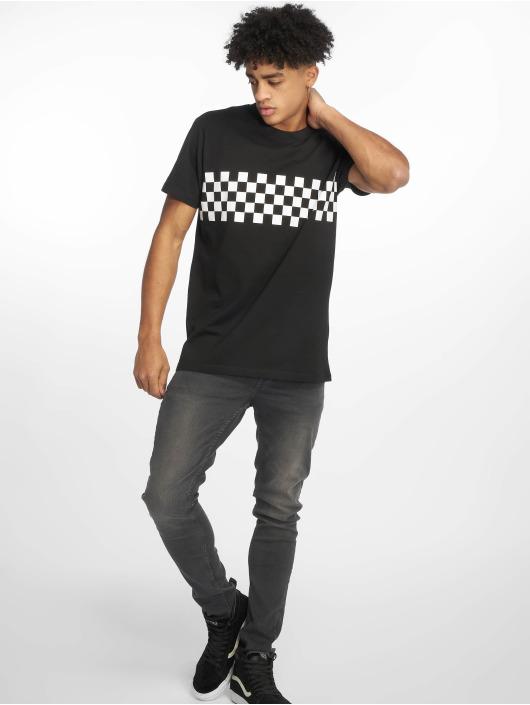 Urban Classics T-skjorter Check Panel svart