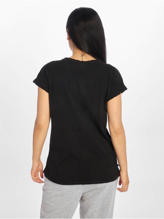 Urban Classics T-skjorter Pigment Dye Cut Open svart
