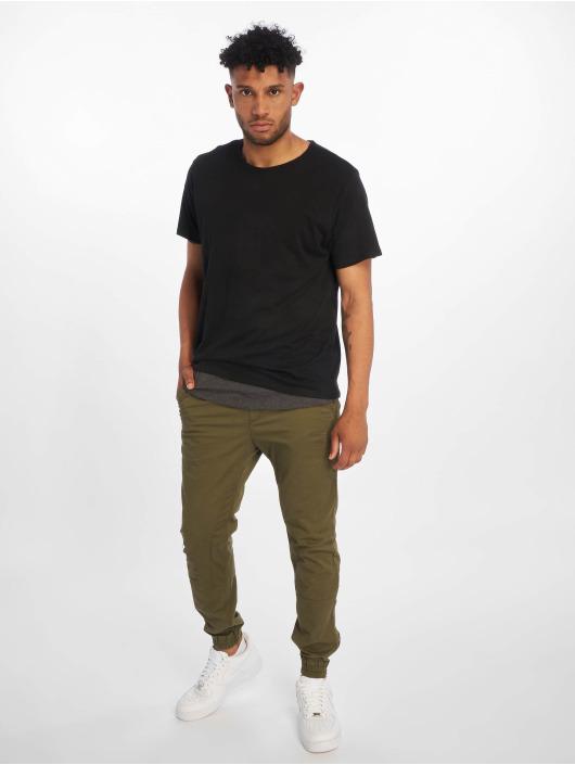 Urban Classics T-skjorter Full Double Layered svart
