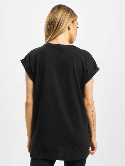 Urban Classics T-skjorter Ladies Extended Shoulder 3-Pack svart