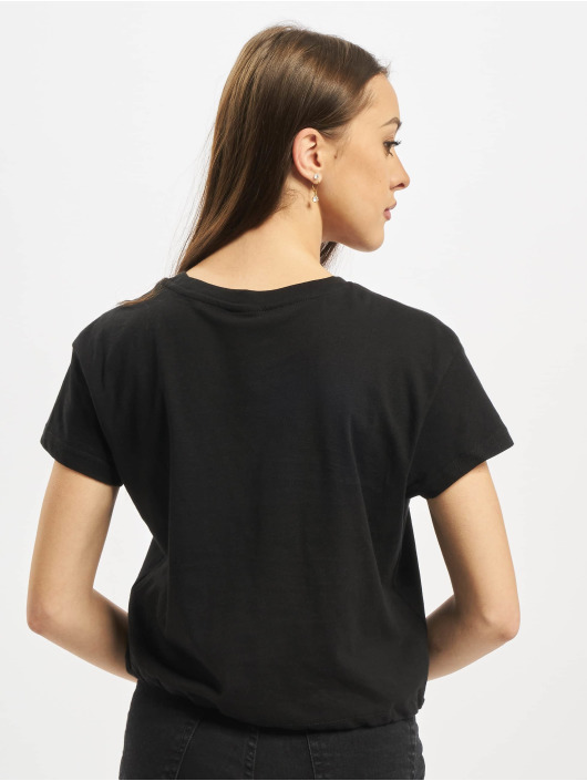 Urban Classics T-skjorter Ladies Cropped Tunnel svart