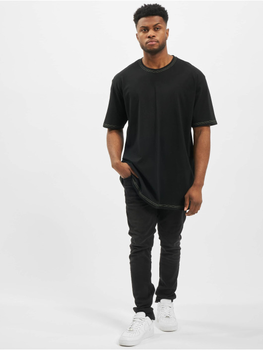 Urban Classics T-skjorter Heavy Oversized Contrast Stitch svart