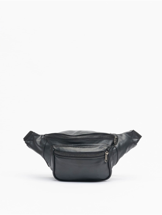 Urban Classics Tašky Imitation Leather Double Zip Shoulder čern