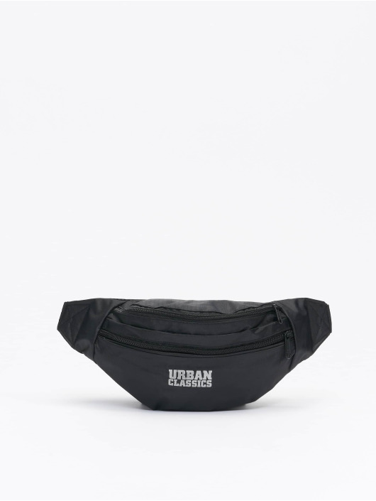 Urban Classics Tašky Recycled Ribstop Double Zip Shoulder čern
