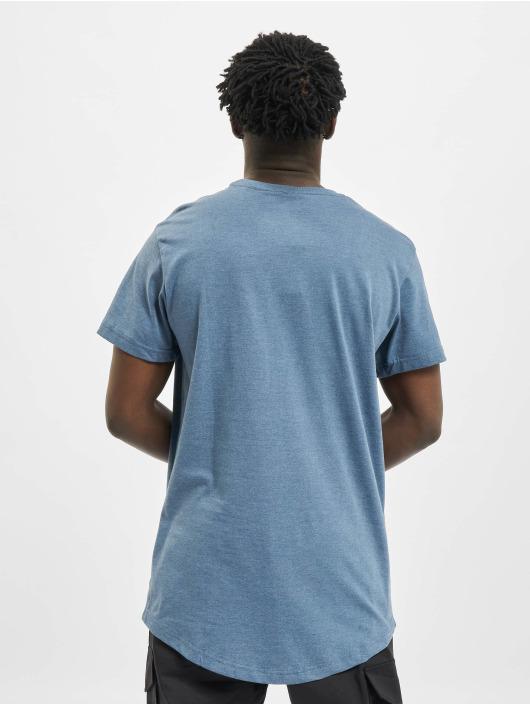 Urban Classics Tall Tees Shaped Melange Oversized Long niebieski