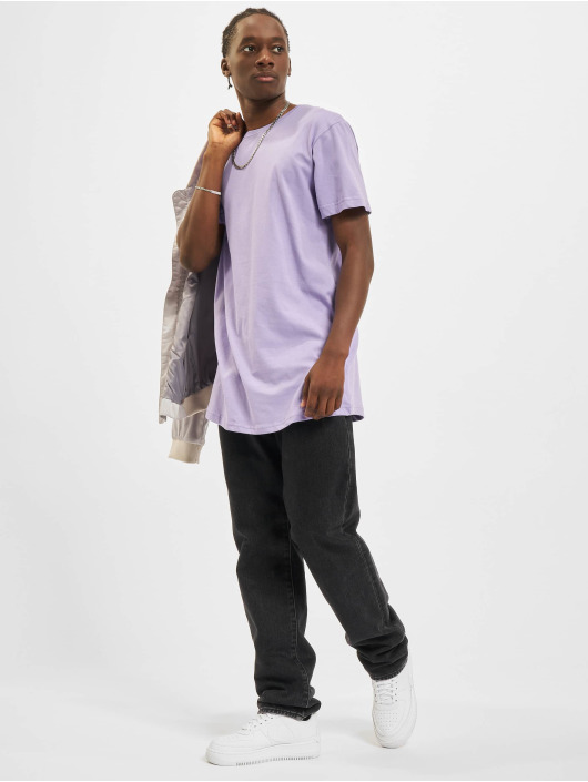 Urban Classics Tall Tees Shaped Long purple