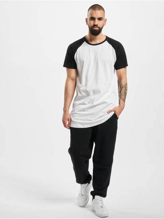 Urban Classics Tall Tees Shaped Raglan Long white
