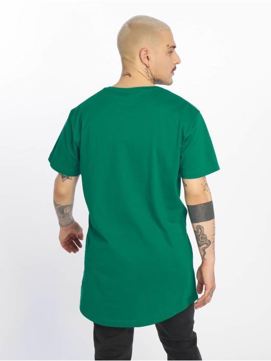 Urban Classics Tall Tees Shaped Long zelená