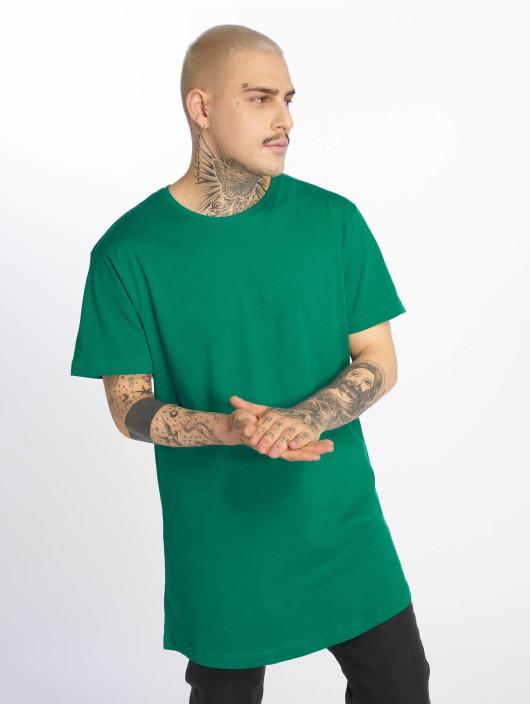 Urban Classics Tall Tees Shaped Long zelený