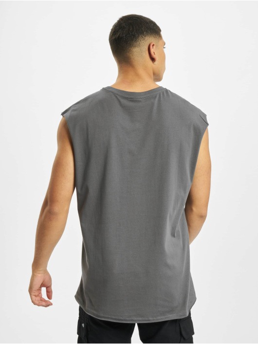 Urban Classics Tank Tops Open Edge Sleeveless gray