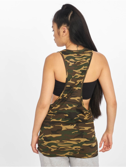 Urban Classics Tank Tops Ladies Camo Loose moro
