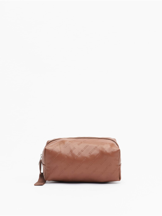 Urban Classics tas Imitation Leather Cosmetic Pouch bruin