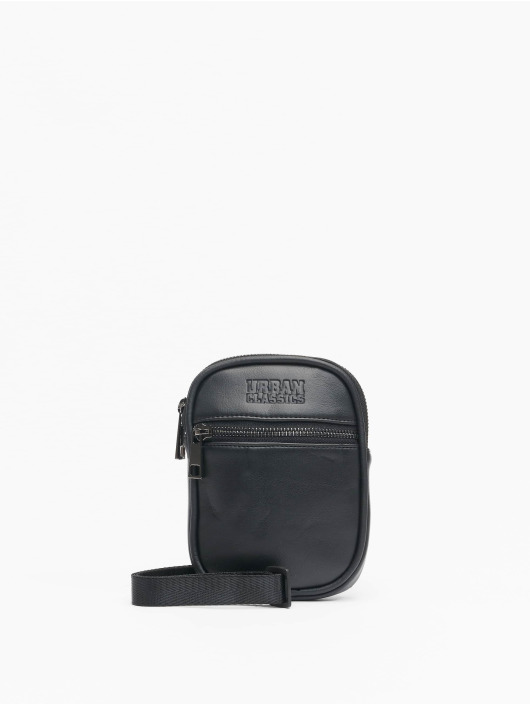 Urban Classics tas Imitation Leather Neckpouch zwart