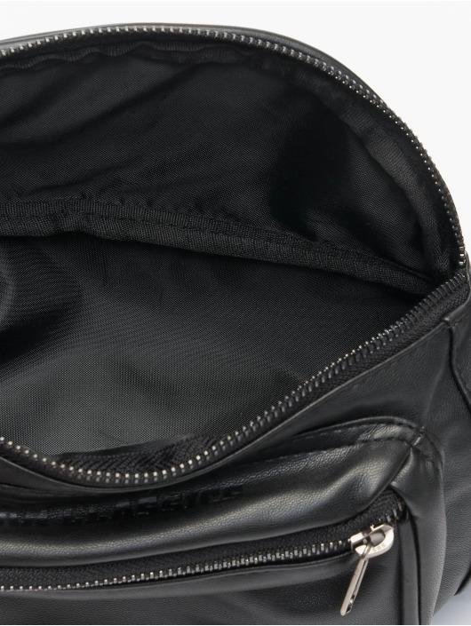 Urban Classics tas Imitation Leather Double Zip Shoulder zwart
