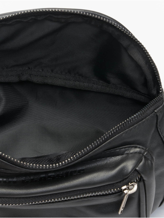 Urban Classics Tasche Imitation Leather Double Zip Shoulder schwarz
