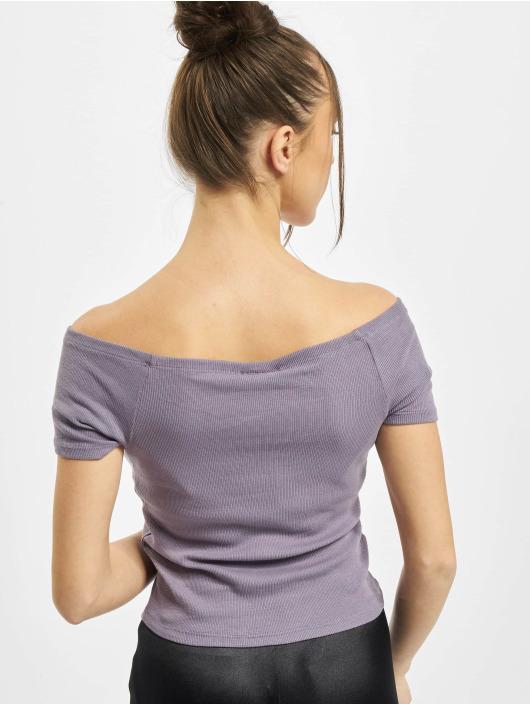 Urban Classics top Ladies Off Shoulder Rib paars