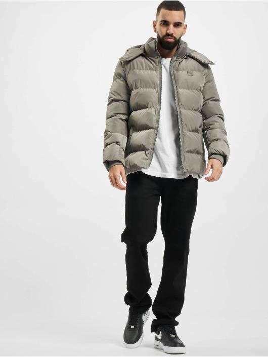 Urban Classics Toppatakkeja Hooded Puffer harmaa
