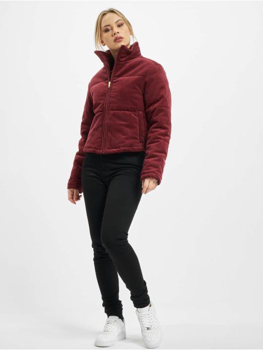 Urban Classics Toppatakkeja Ladies Corduroy punainen