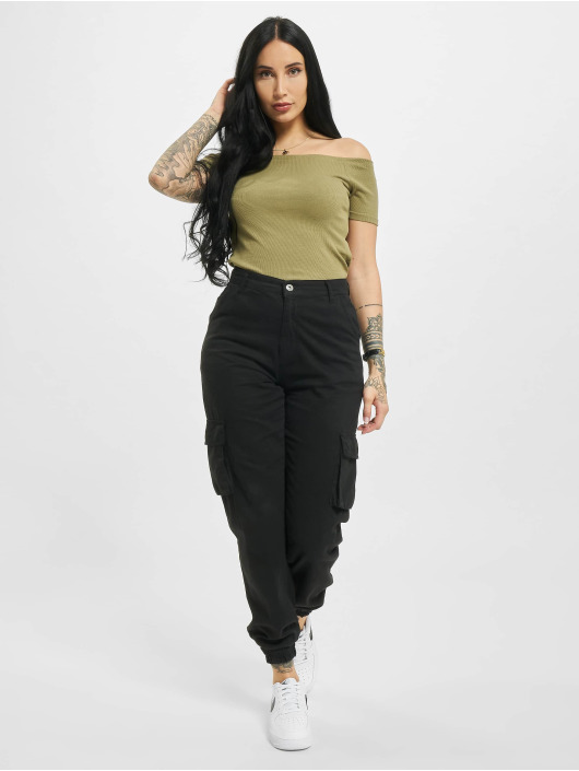 Urban Classics Tops Off Shoulder Rib cachi