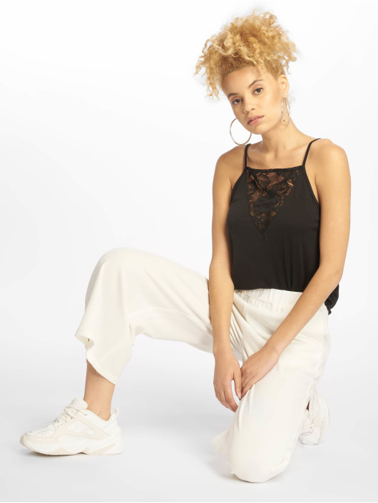 Urban Classics Tops Laces Triangle czarny