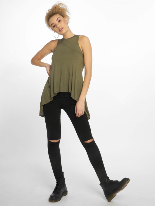 Urban Classics Tops Ladies HiLo Viscose oliwkowy