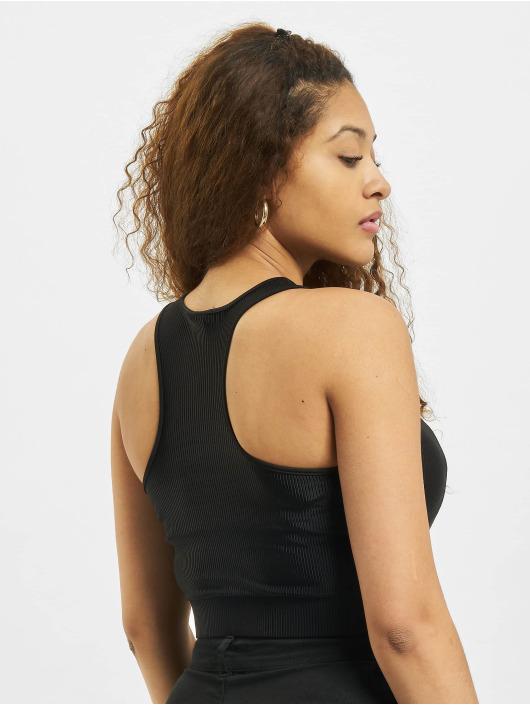 Urban Classics Topy Ladies Cropped Shiny čern