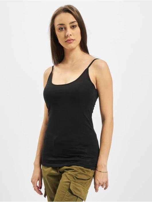 Urban Classics Topy/Tielka Ladies Basic Top 2-Pack èierna